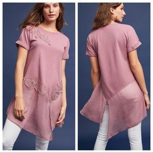 Anthropology | Mauve lace tunic size medium